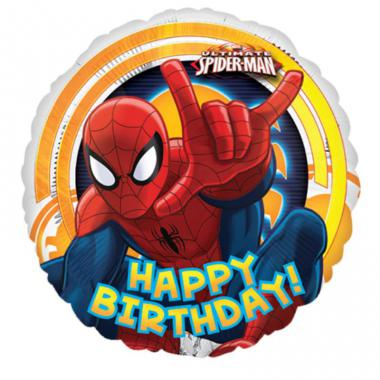 圆形蜘蛛侠铝箔气球 Spider-Man Ultimate Birthday [2633702]